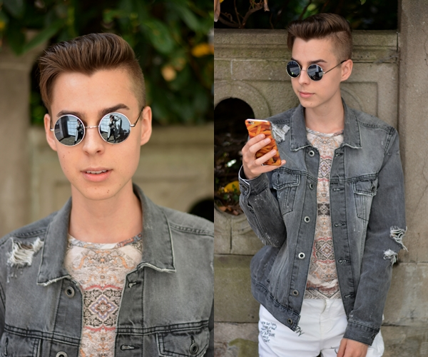 fashionblogger pommes handyhülle jeansjacke