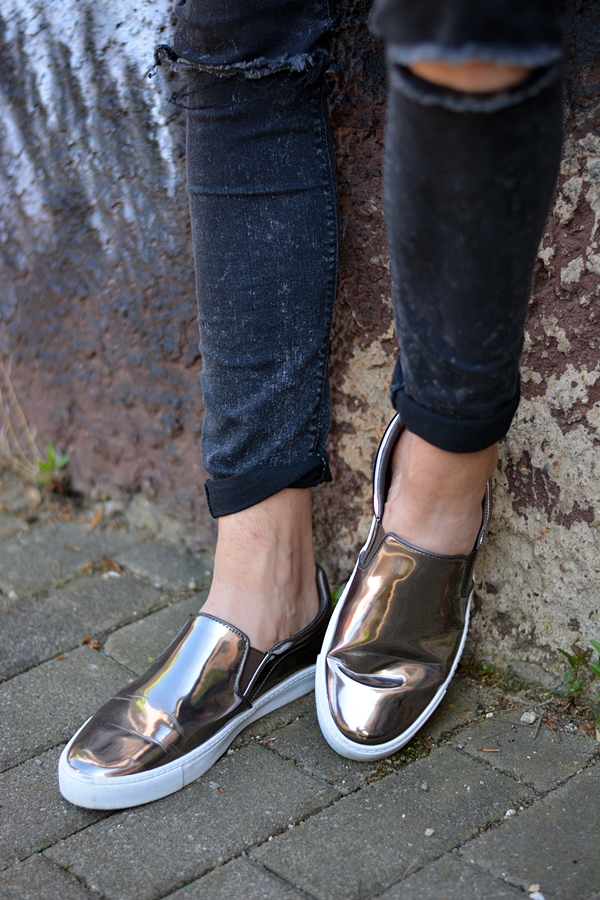 silver shoes slipper modeblogger