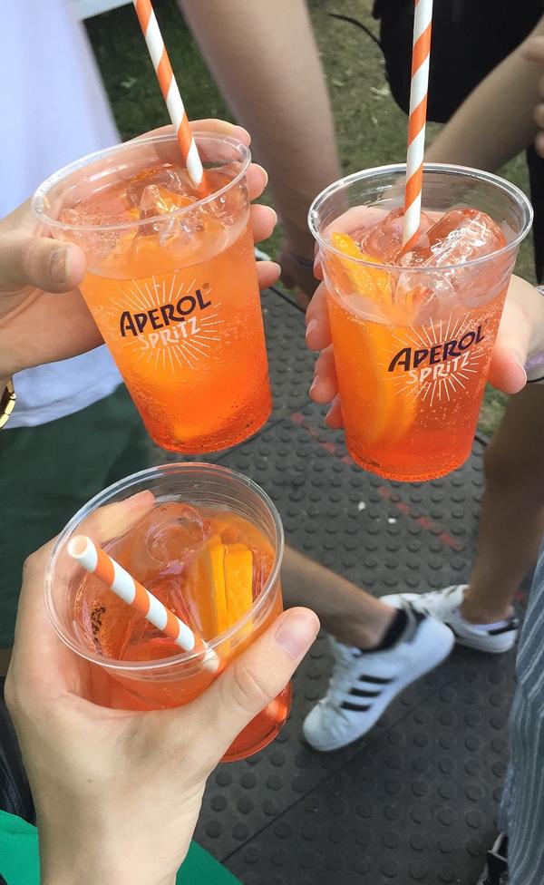 Aperol Spritz auf dem Orange Warsaw Festival