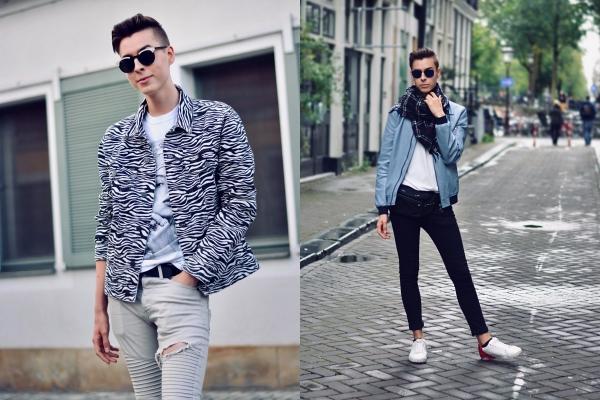 Deutscher Modeblogger in Amsterdam Milk&Sugar Zebrajacke