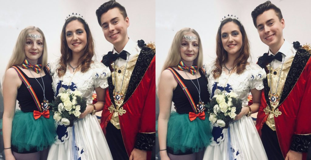 Karneval in Creuzburg. Ein Clown, eine Prinzessin und ein Zirkusdirektor.