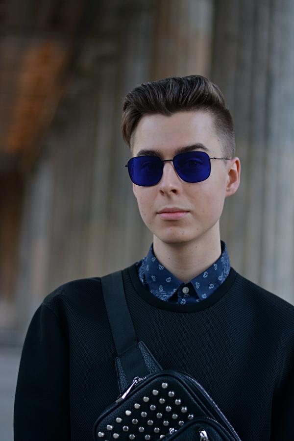 Milk&Sugar Modeblogger blaue Sonnenbrille