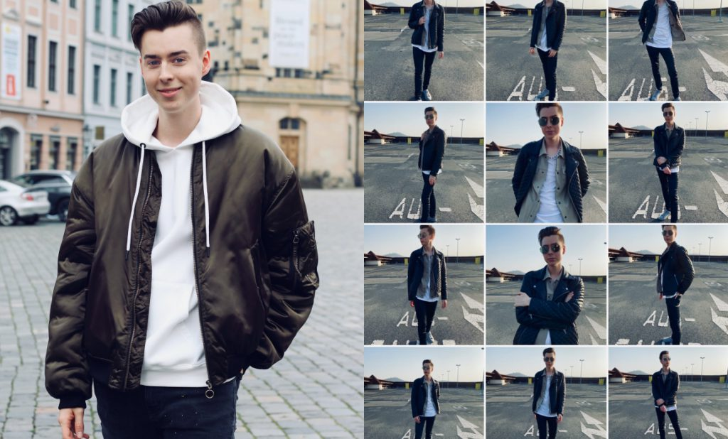 Outfitbilder von einem Blogger aus Dresden. Semesterarbeit.