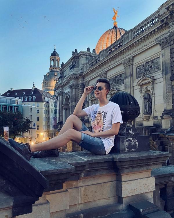 Abendstimmung im August. Altstadt von Dresden